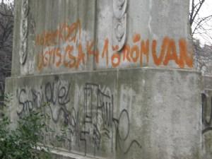 Városmajor, street art, falfirka, emlékmű, Kisfaludy Strobl Zsigmond, XII. kerület